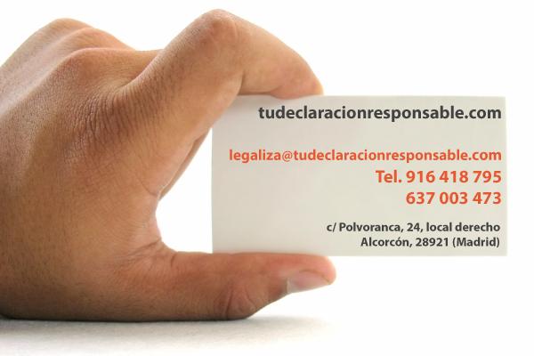 Contacto: legaliza@tudelcaracionresponsable.com 916 418 795